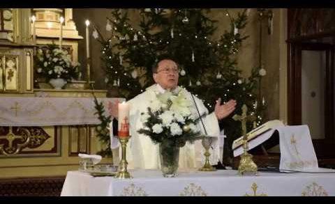 Szentmise a tapolcai Nagyboldogasszony Római katolikus templomban.